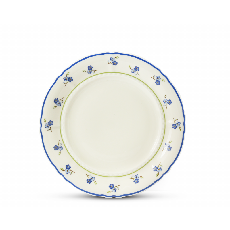 Dinner set 25-piece Forget-me-nots ivory