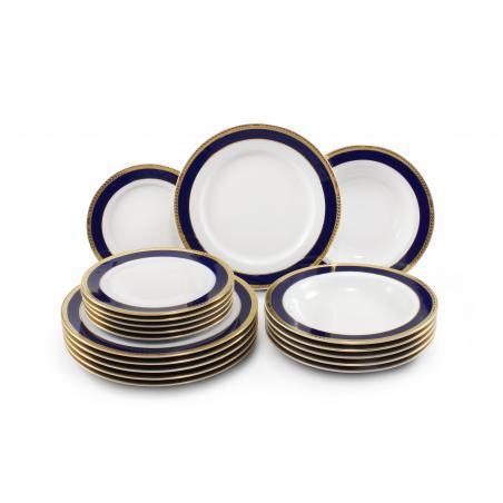 Plate set 18-piece- Cobalt...