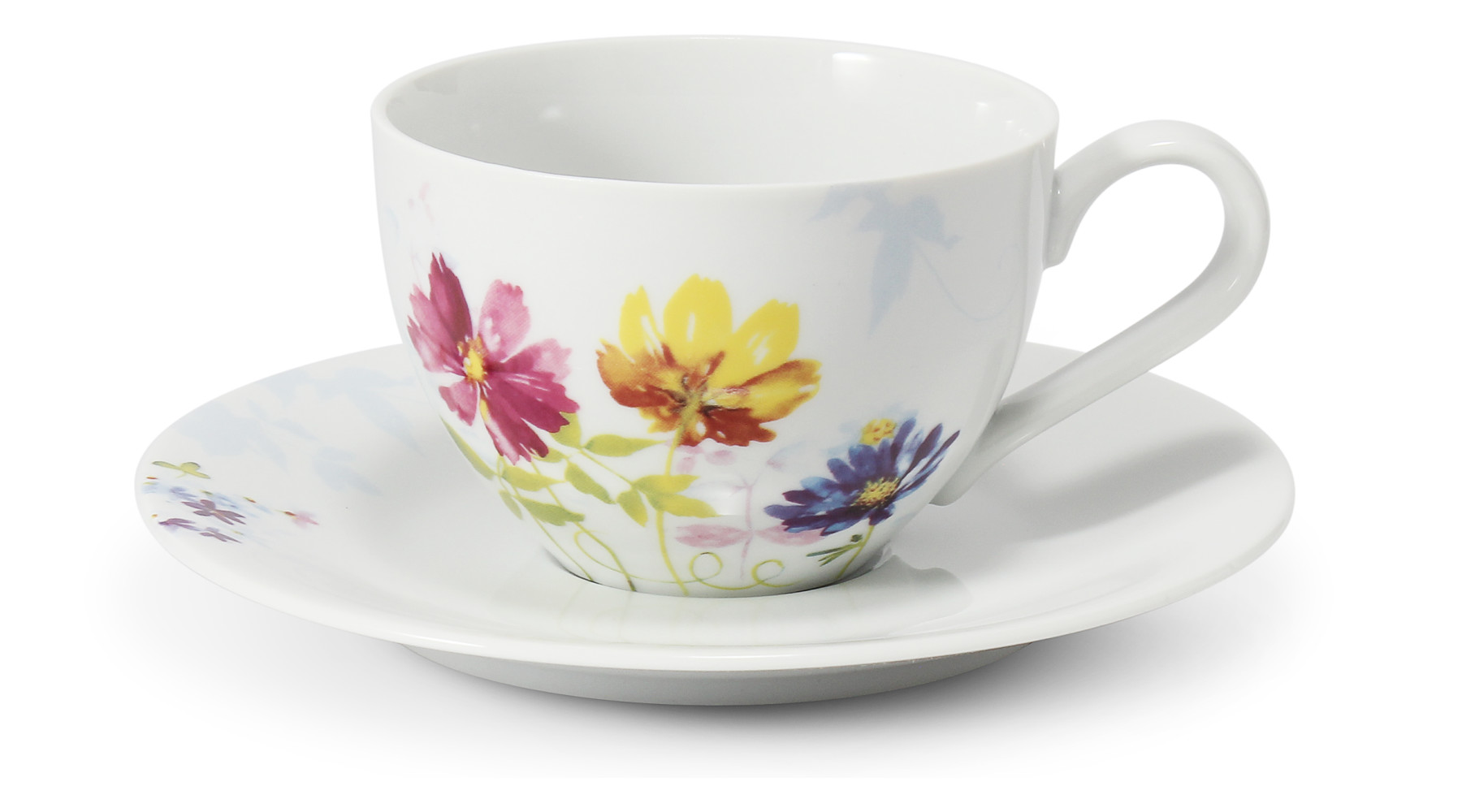 Tasse mit Untertasse 0,20 l Aue aus Loučky