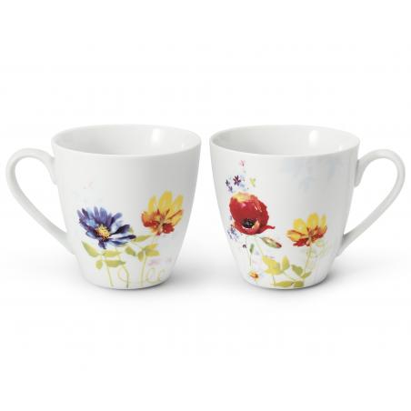 Set mit zwei Teetassen Aue...