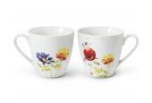 Set mit zwei Teetassen Aue aus Loučky