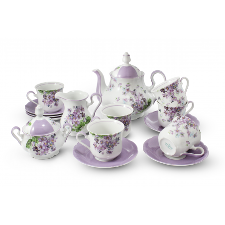Tea set 15-piece Violets