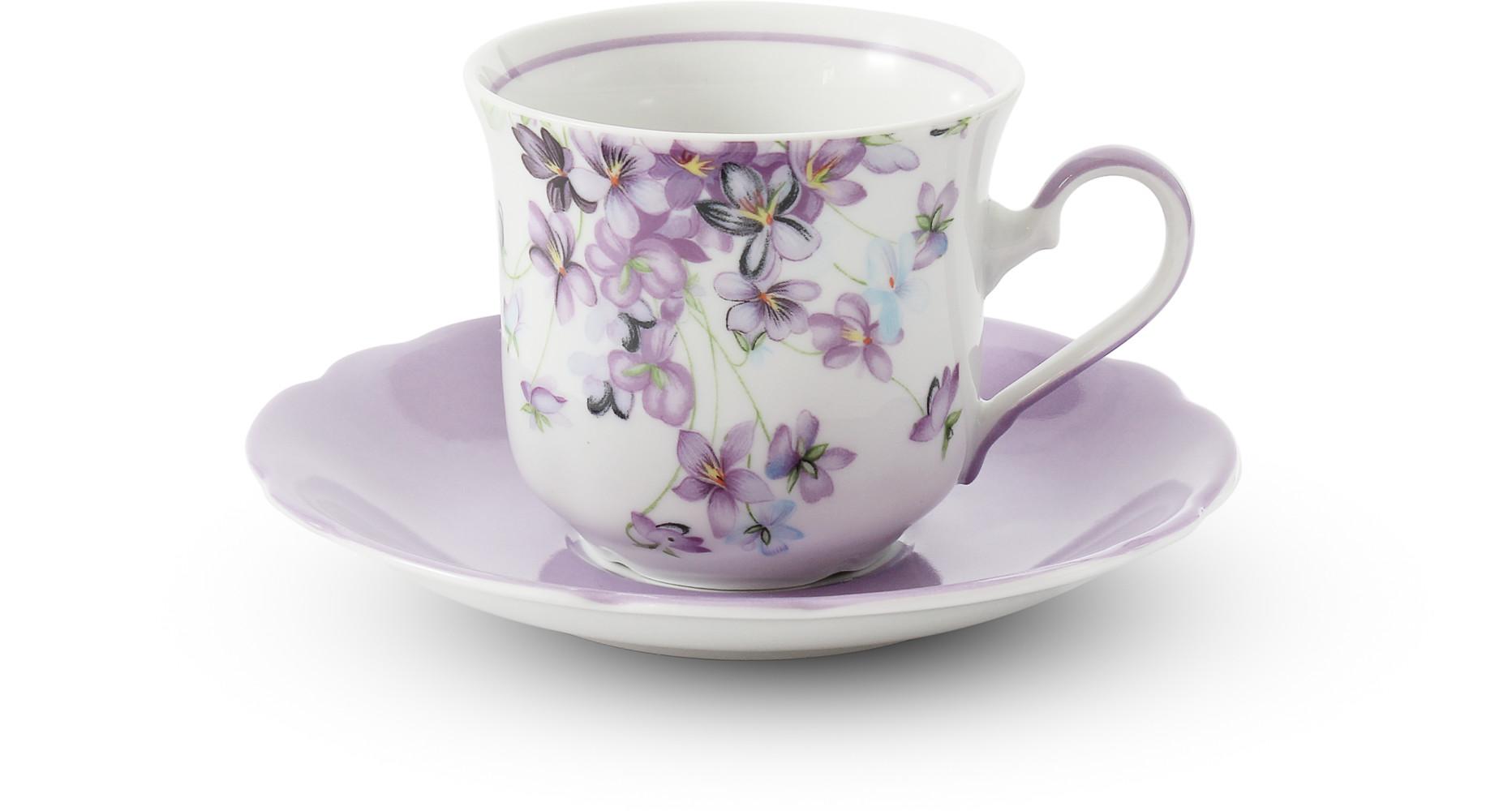 Tasse mit Untertasse 0,20 l Veilchen