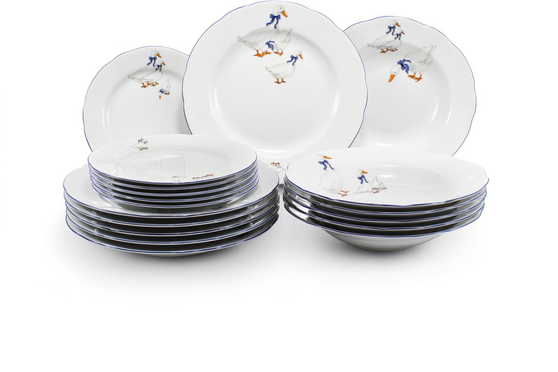 Plate set 18-piece - Geese