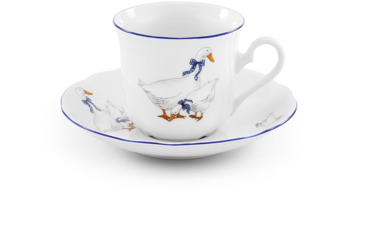 Cup and saucer Geese
