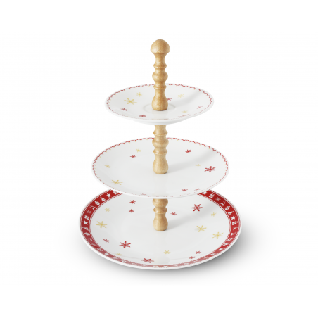 Tiered plate Christmas...