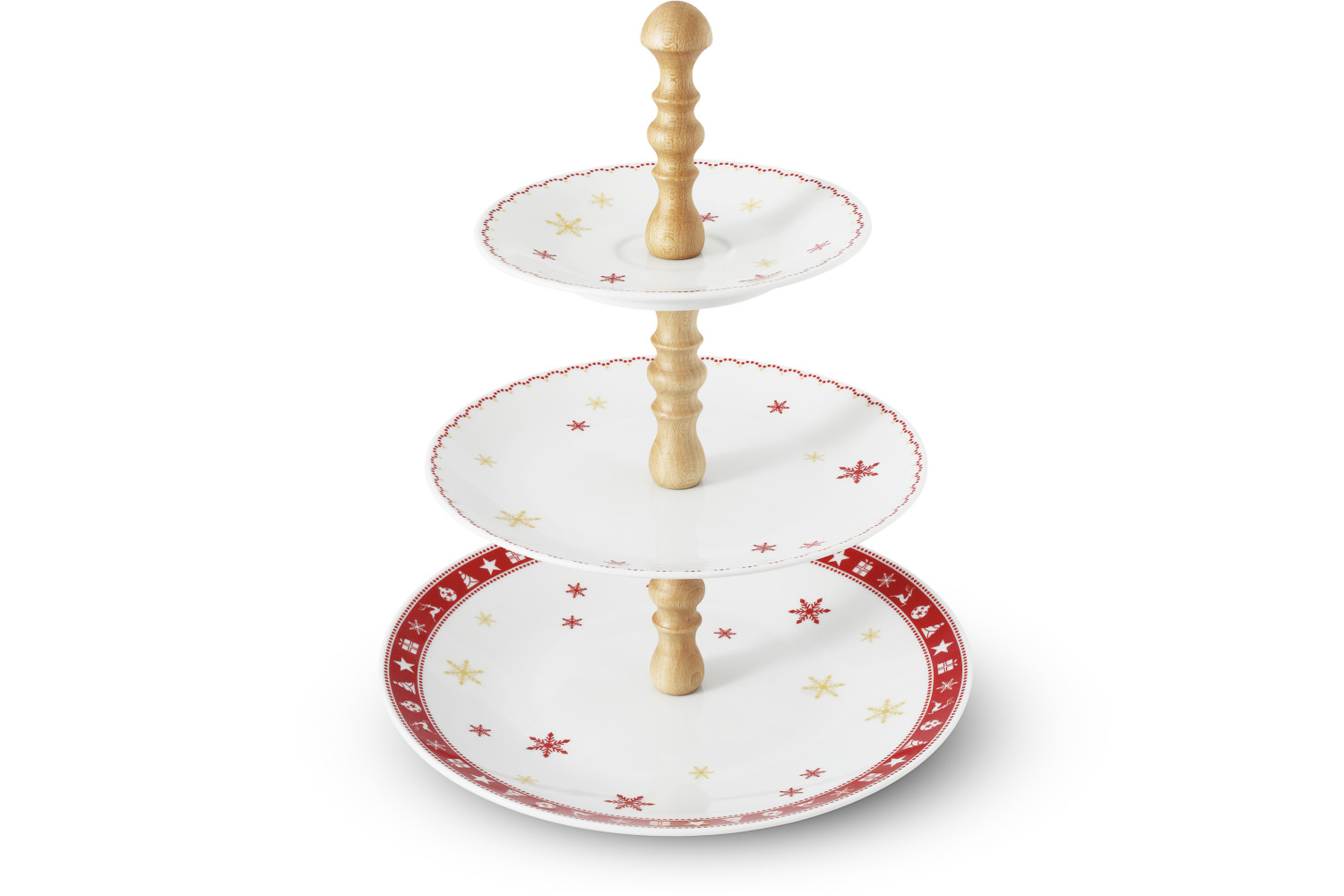 Tiered plate Christmas dreaming
