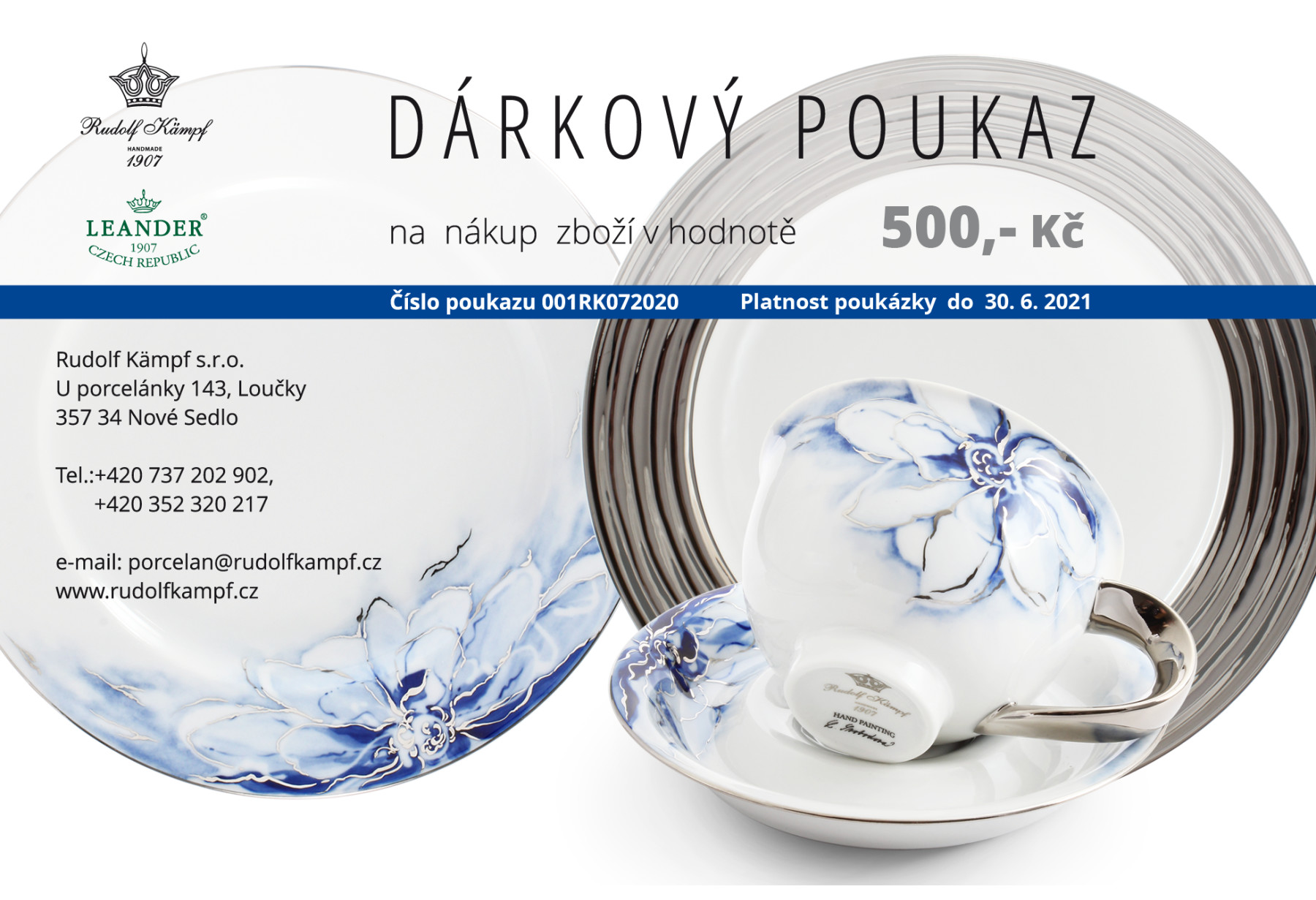 Gift voucher at the amount of CZK 500