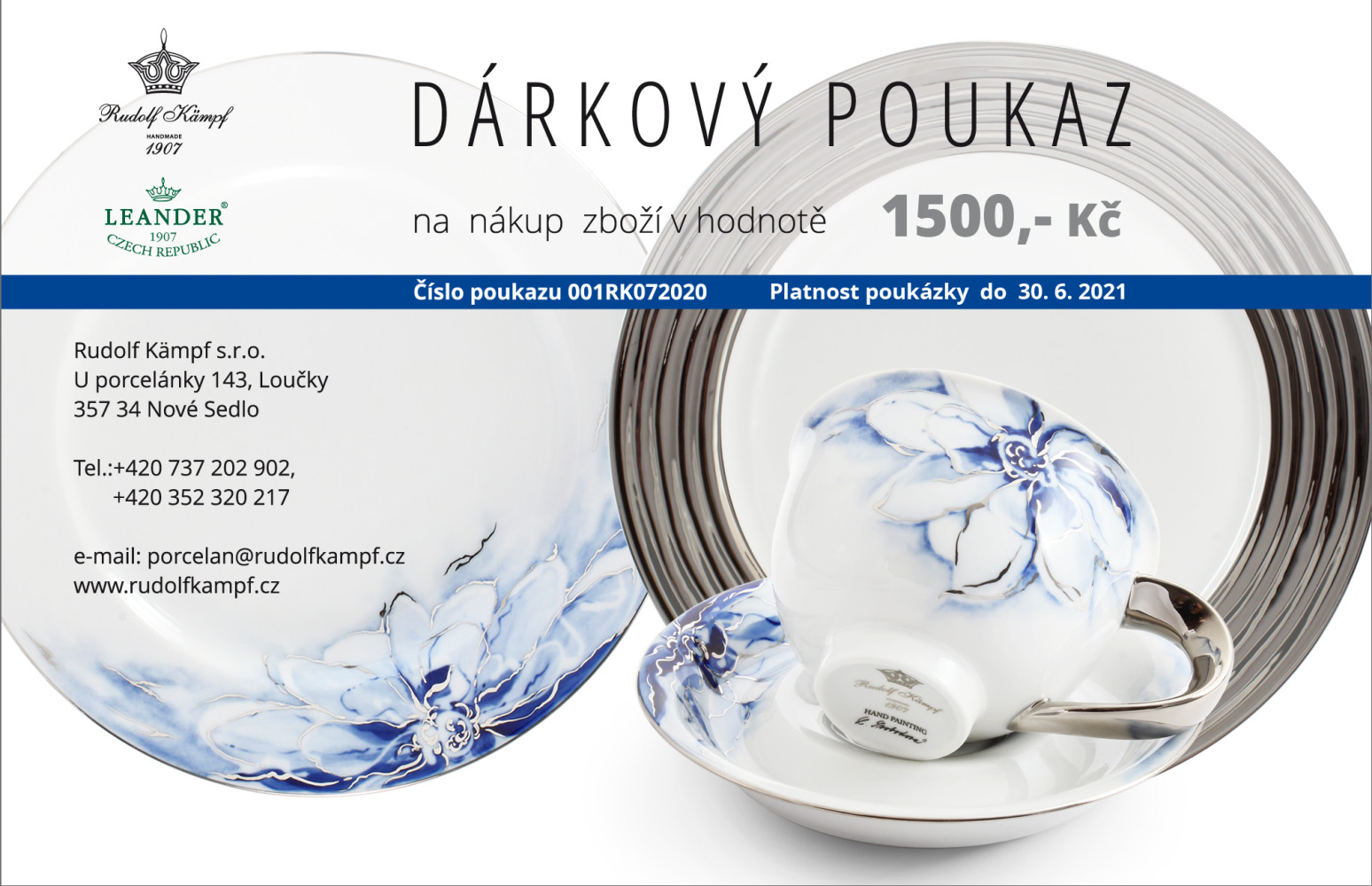 Gift voucher at the amount of CZK 1,500