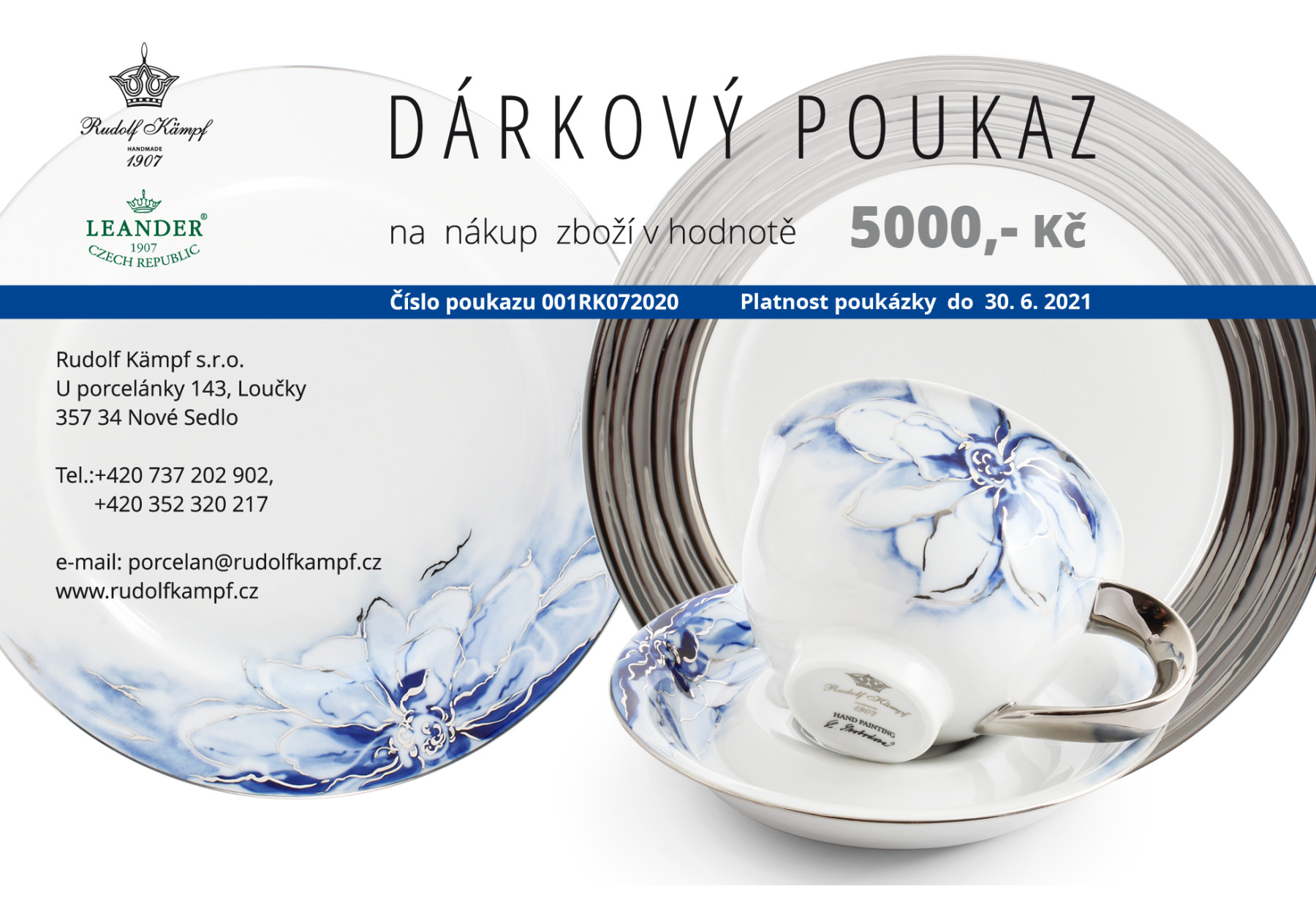 Gift voucher at the amount of CZK 5,000