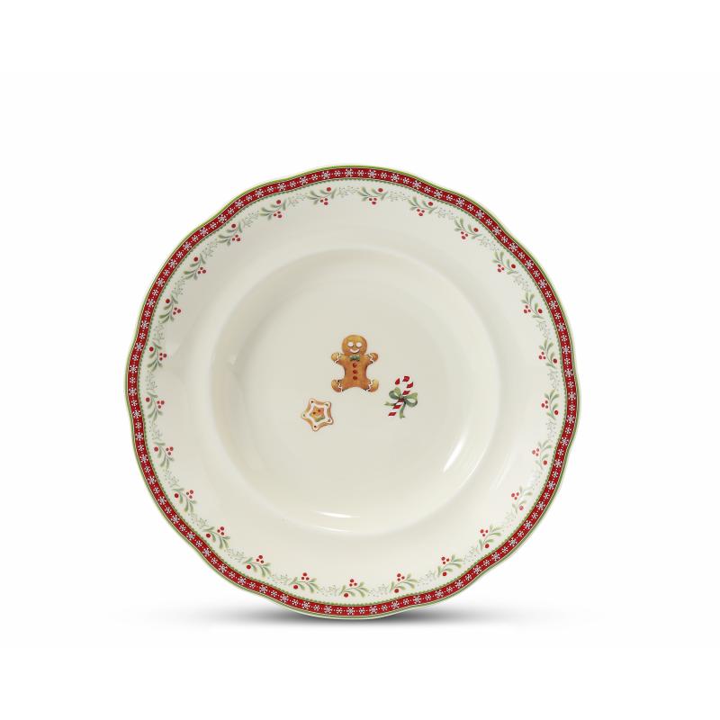 Plate set 12-piece Gingerbread cookies