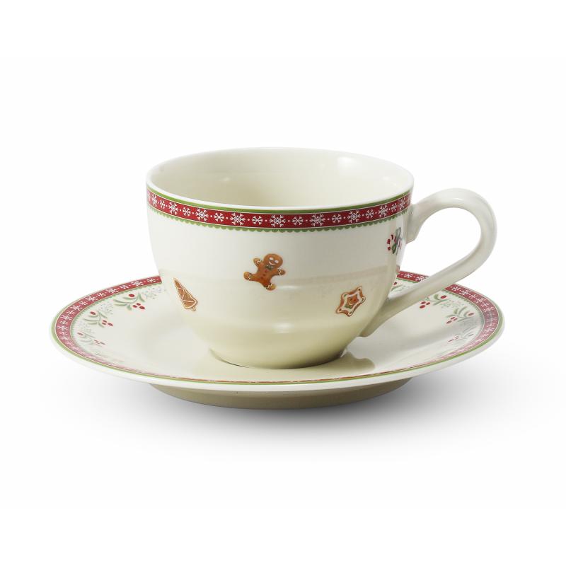 Tasse mit Untertasse 0,20 l Weihnachtslebkuchen