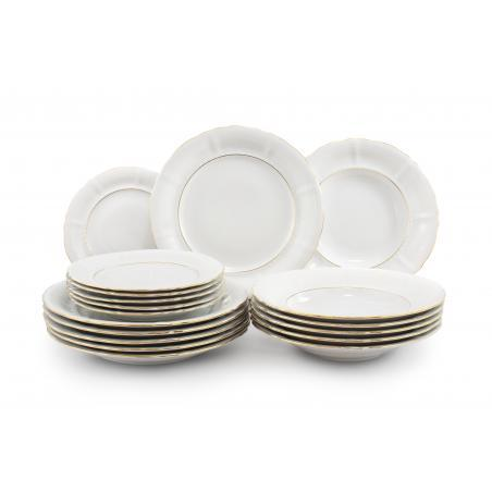 Plate set 18-piece - Golden...