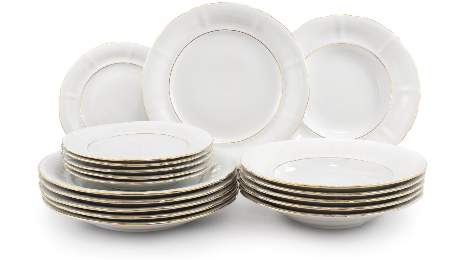 Plate set 18-piece - Golden line