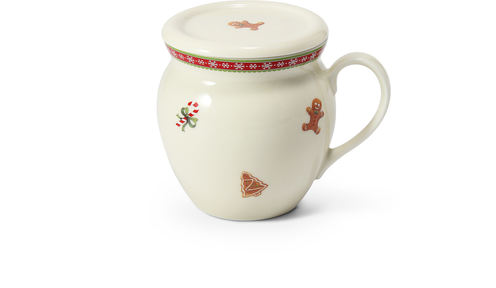 """Teetasse 0,30 l """"BUCLÁK"""" mit Deckel Weihnachtslebkuchen"""