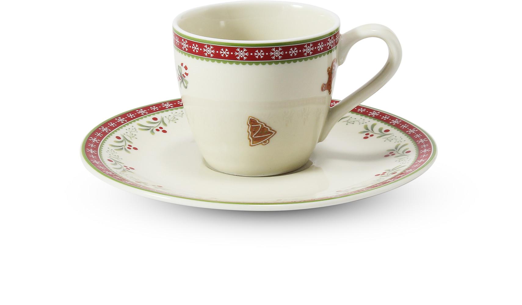 Šálek s podšálkem 0,07 l- espresso Vánoční perníčky