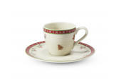 Cup and saucer 0.07 l- espresso Gingerbread cookies