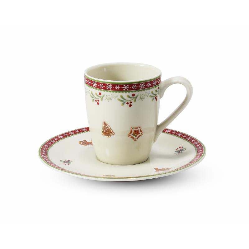 Tasse mit Untertasse 0,09 l-espresso Weihnachtslebkuchen