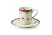 Cup and saucer 0.09 l- espresso Gingerbread cookies
