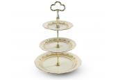 Tiered plate Wedding sonata ivory