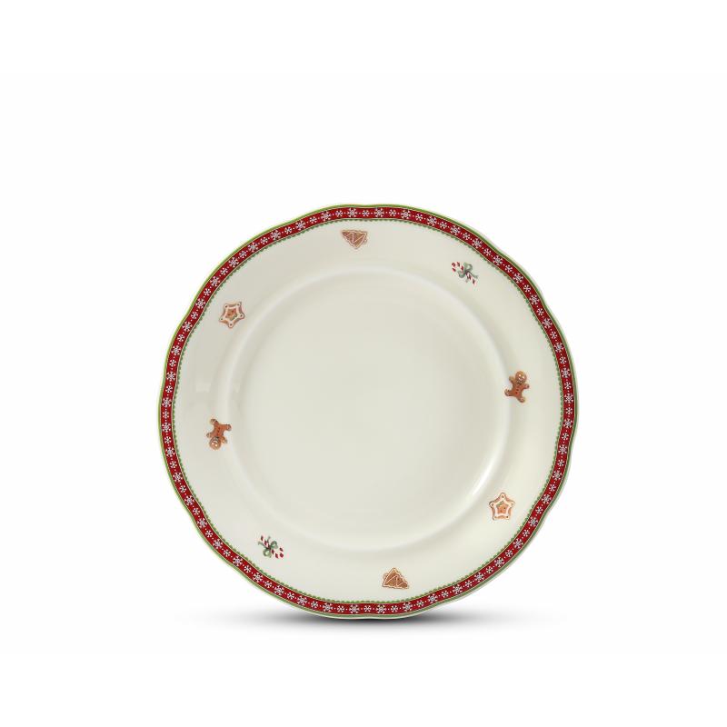 Speiseservice 20-teilig Weihnachtslebkuchen