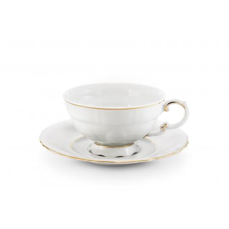 Cup and saucer Golden line