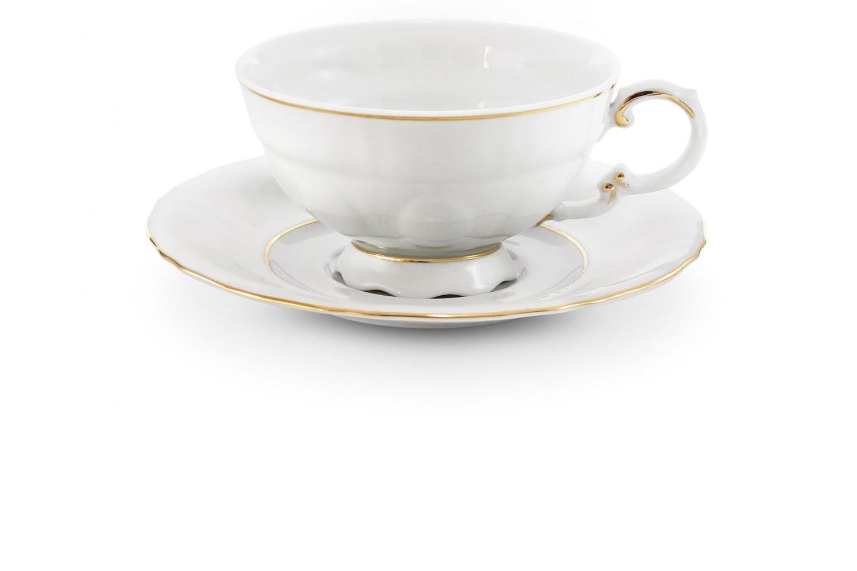 Tasse mit Untertasse Goldene Linie
