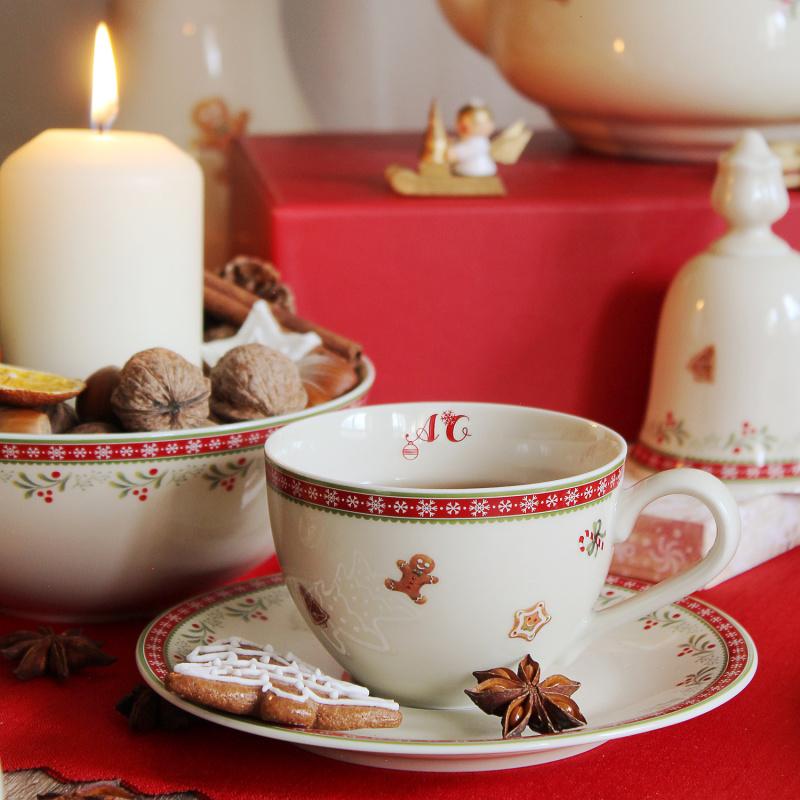 Čajová souprava 11 dílná Vánoční perníčky