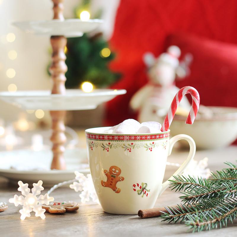 Snídaňová souprava 5 dílná Vánoční perníčky