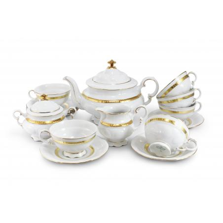 Tea set 15-piece - Gold braid