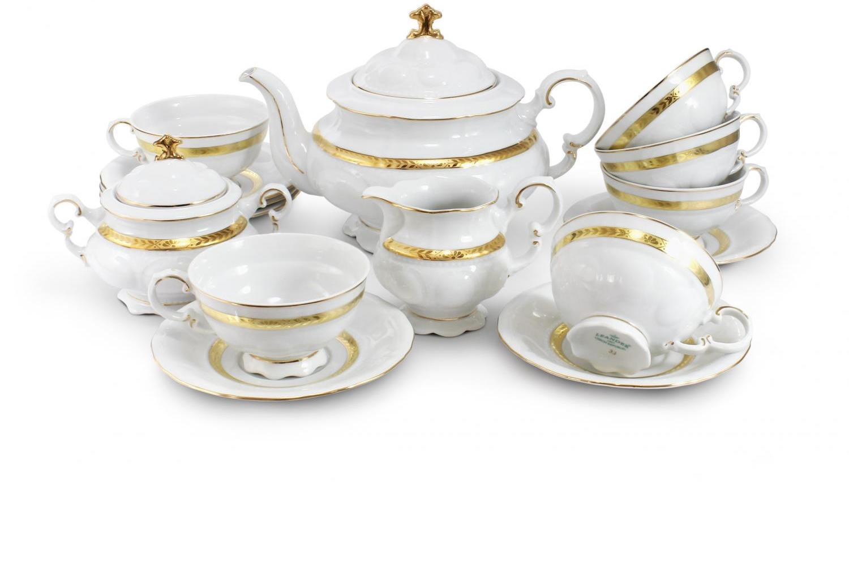 Tea set 15-piece - Gold braid