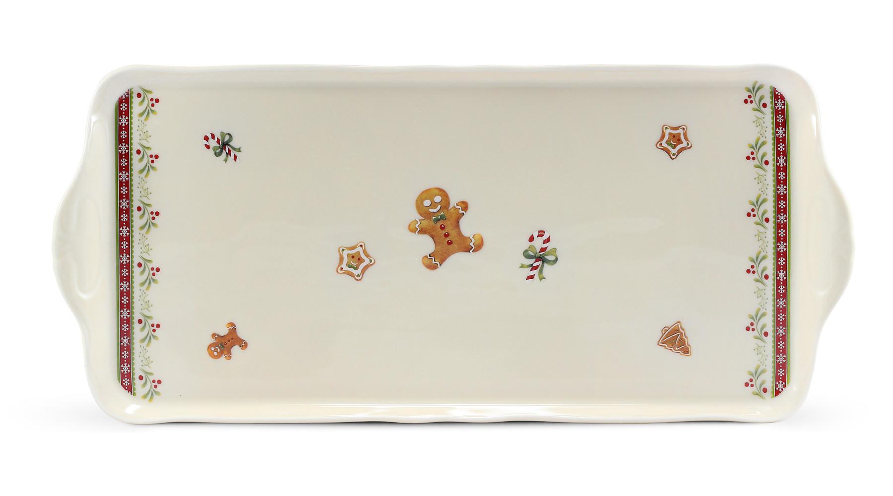 Servierbrett Quadrat 36 cm Weihnachtslebkuchen
