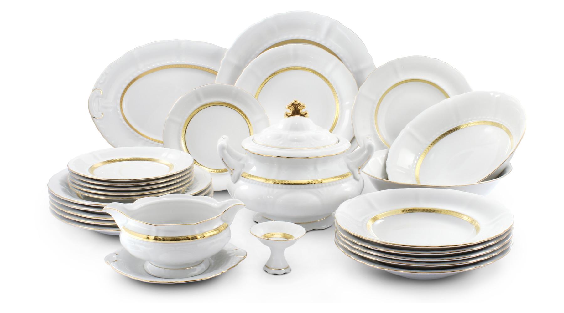 Dinner set 25-piece - Gold braid