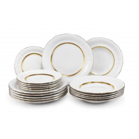 Plate set 18-piece - Gold...