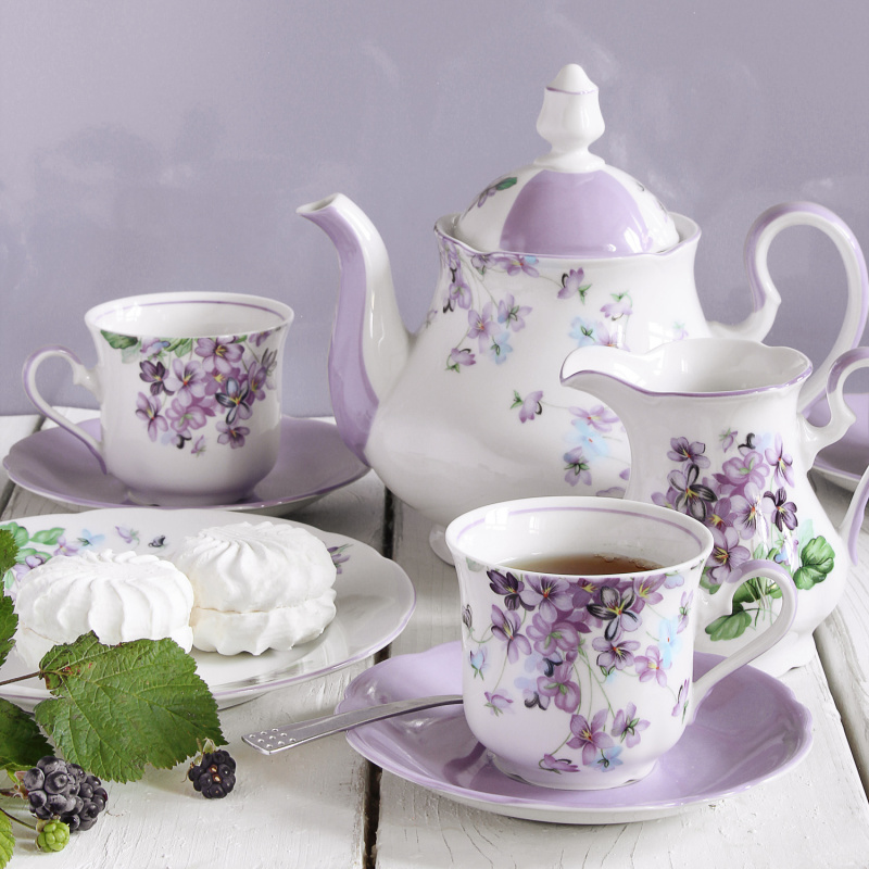 Teeservice 15-teilig Veilchen