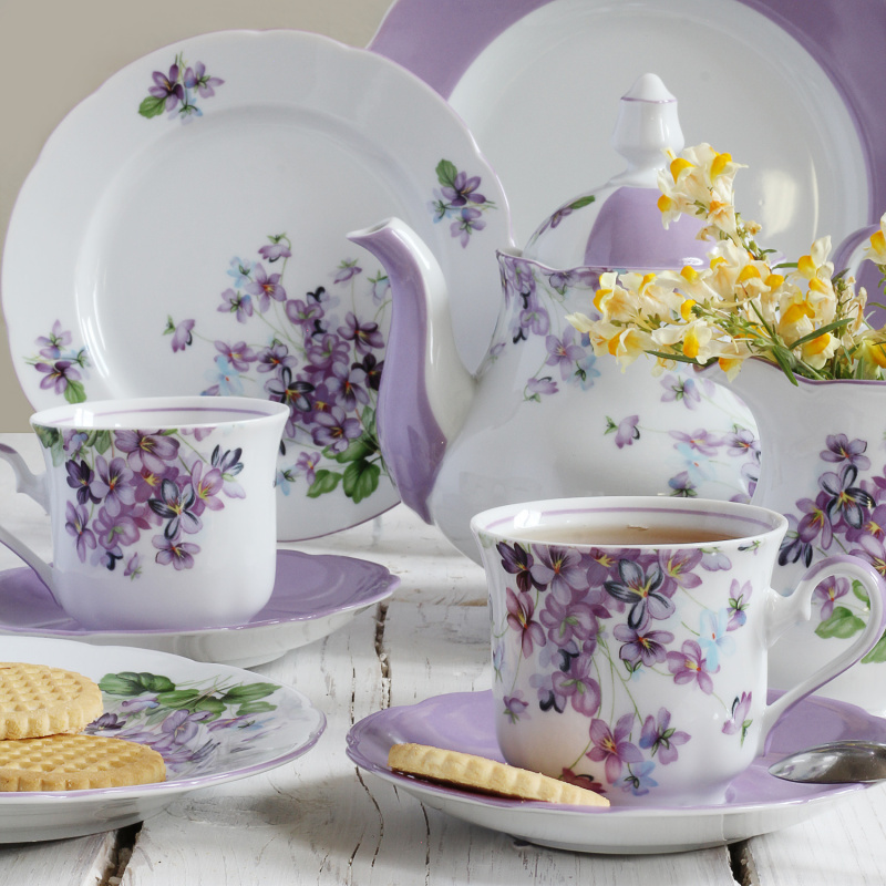 Cup and saucer 0.20 l Violets