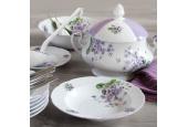 Plate set 18-piece Violets