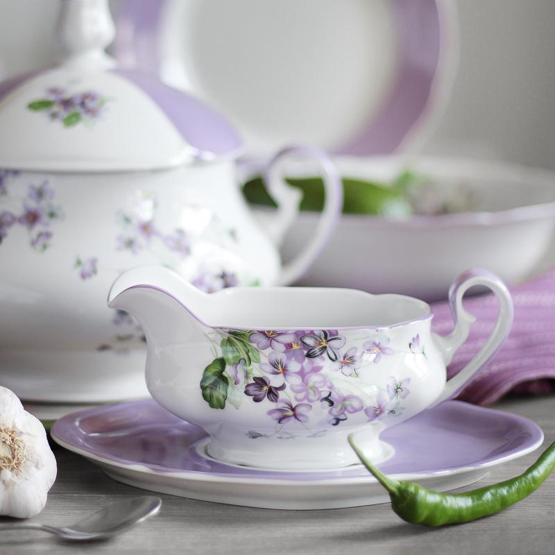 Dinner set 25-piece Violets
