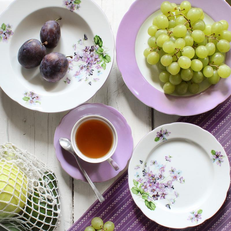 Dessert plate 19 cm Violets