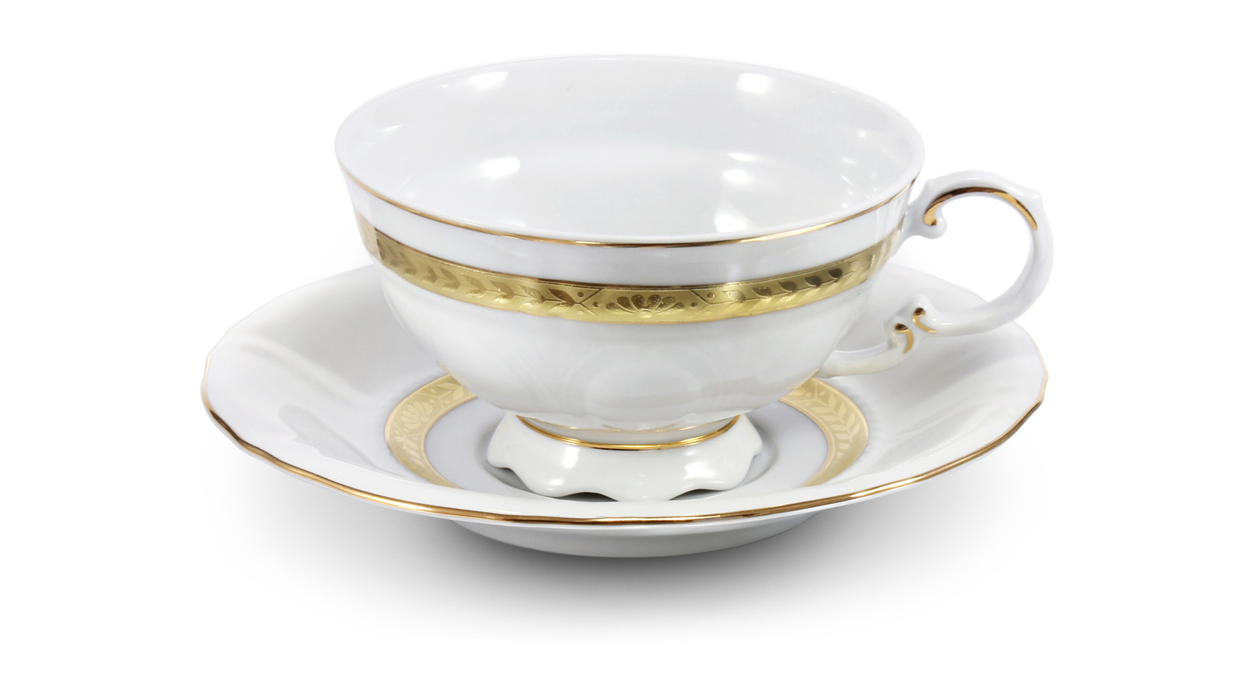 Tasse mit Untertasse Goldener Zopf