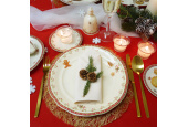 Speiseteller 25 cm Weihnachtslebkuchen