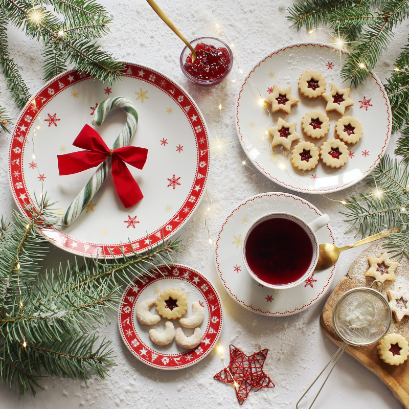 Plate flat Christmas dreaming
