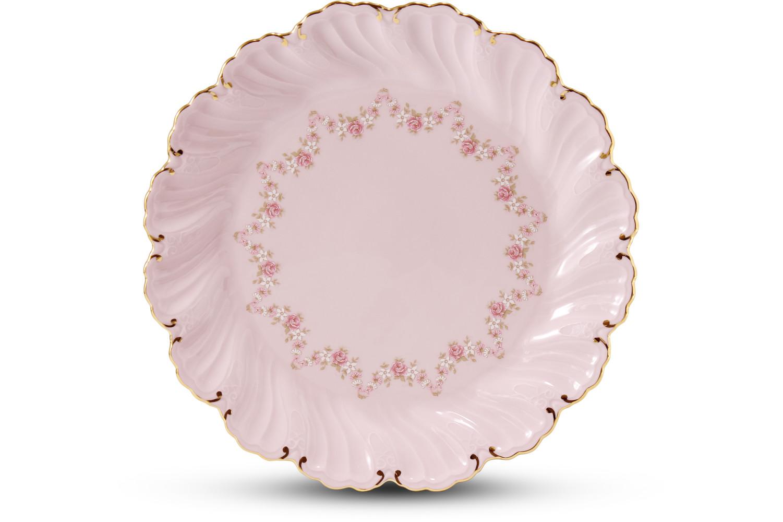 Cake set 24,5 cm Rose garland rose porcelain