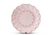 Talíř koláčový 24,5 cm Girlanda z růží růžový porcelán