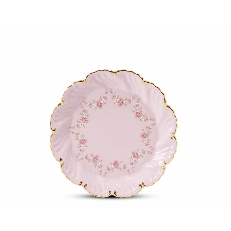 Dessert plate 17 cm Rose garland rose porcelain
