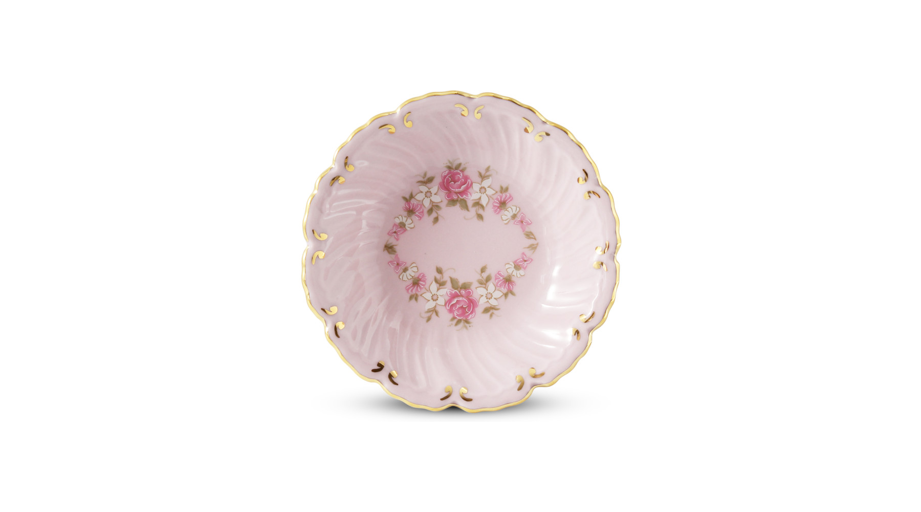 Small bowl round deep 8 cm Rose garland rose porcelain