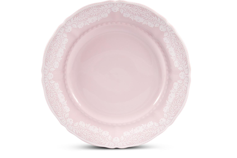 Dessert plate 19 cm Lace rosa porcelain