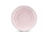 Dessertteller 19 cm Spitzen rosa Porzellan