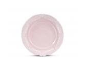 Dessertteller 17 cm Spitzen rosa Porzellan