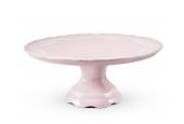Talíř dortový 26 cm Krajka růžový porcelán